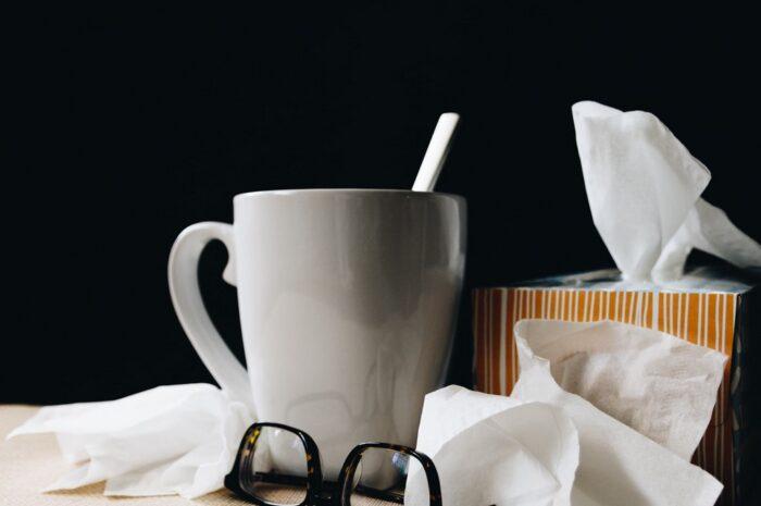 Chřipka si obvykle žádá teplý čaj a kapesníky.